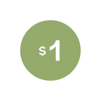 Virtual $1 badge