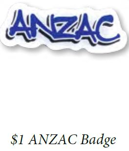 $1 ANZAC BADGE